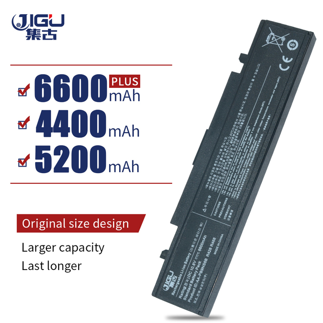 JIGU Laptop Battery For Samsung R467 R468 R470 R478 R480 R517 R520  R523 R538 R540 R580 R620 R718 R720 R728 R730 R780 R530 BLack