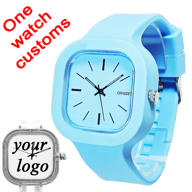 Do Dropship Customize photo picture Single one watch your own logo custom sports 5ATM waterproof drop shipping products supplier