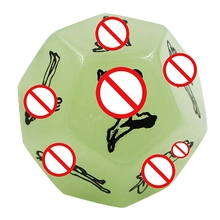 Hot-Funny Sex Dice 12 Positions Erotic Craps Sex Glow Dice Love Dices Toys For Adults Sex Toys Noctilucent Couples Dice Game