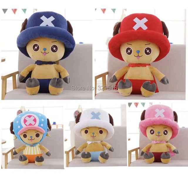30 cm Anime One Piece figure plush doll Tony Tony Chopper five color figures plush toys free shipping