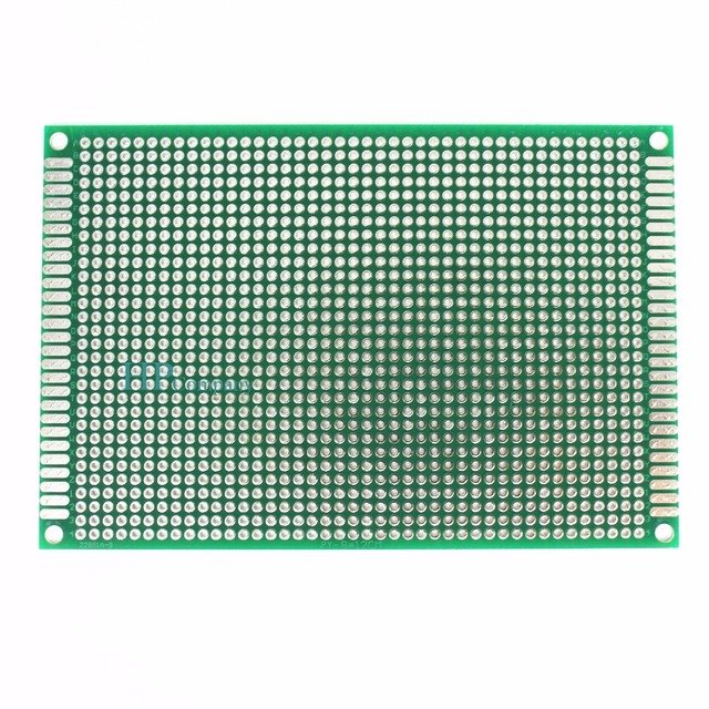 1PCS 8*12 8X12cm  Double Side Prototype pcb Breadboard Universal Printed Circuit Board for Arduino 1.6mm 2.54mm Glass Fiber