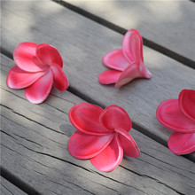 Hot Pink/Fuchsia frangipani Plumeria Real Touch Flowers flower heads Cake Toppers Wedding Decorations