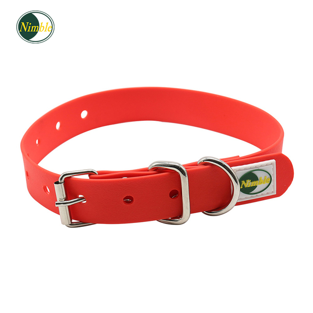 NIMBLE Adjustable Dog Collars PVC Collar For Small Large Dogs Collar Training Outdoor For Pet Product Collier Pour Chien