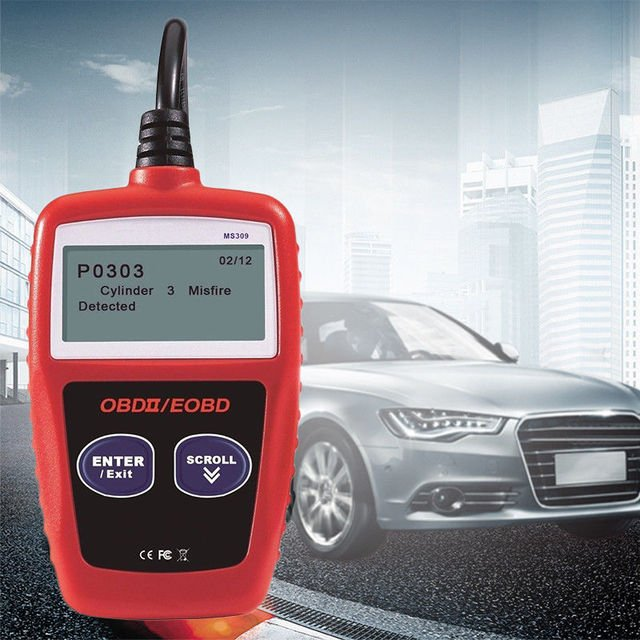 Vehemo OBD2 MS309 Auto Diagnostic Tool Car Scanner Diagnostic Tool Car Diagnostic Tool Universal Quick Testor for MaxiScan