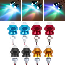 Vehemo for Motorbike 2pcs Signal Lamp Indicator Light Colorful Bulb Warning Lamp License Plate Lamp Universal Motorcycles