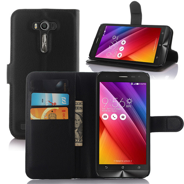 YUANLONG PU Leather Case For Asus ZenFone 2 Laser ZE500KL ZE550KL ZE601KL ZE500CL ZE550ML With Stand Function And Card Holder