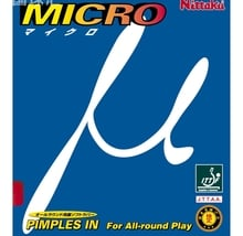 Nittaku Micro Table Tennis Pips-in Rubber Red/Black - excellent choice for beginners or allround players