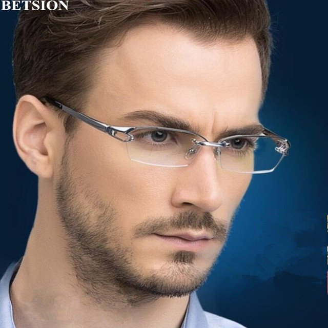100% Pure Titanium Eyeglass Frames Glasses Half Rimless Eyewear Spectacles Rx able