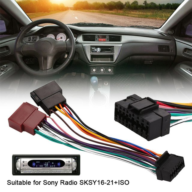 Harness Connector Connector Radio Player Car Durable Cable Stereo Plug 16Pin Sksy16-21+Iso 45W Adaptor Wire Auto Radio Harness
