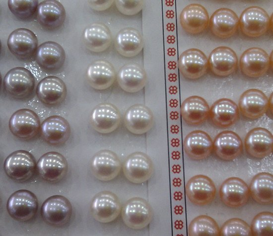 AAAA FREE SHIPPING Natural Freshwater 8-9mm Loose Pearls, Half Drilled, Nice Jewellery Fittings