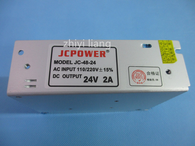 best price 24V 2A DC Universal Regulated Switching Power Supply DC 48W Voltage transformer for  LED strip lamp