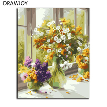 Frameless Wall Art Pictures DIY Oil Painting By Numbers Hand Painted Oil On Canvas Home Decor Of Flower Living Room G377 40*50cm