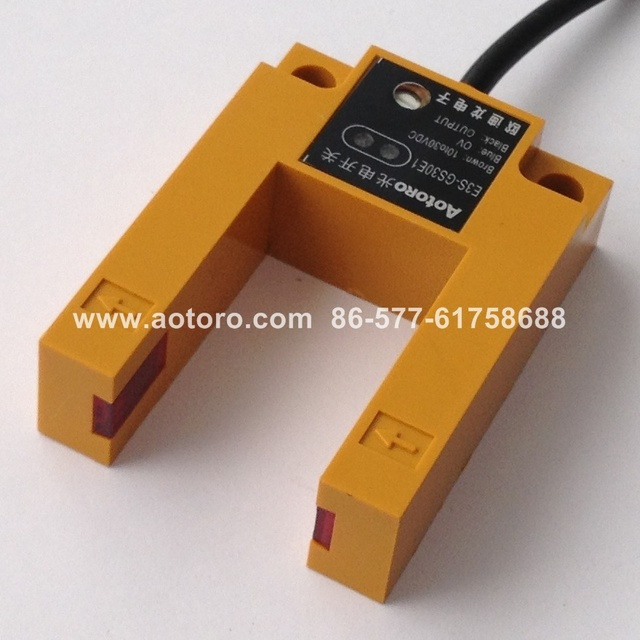 trough photo switches E3S-GS30E1 NPN made in china Photoelectric sensor