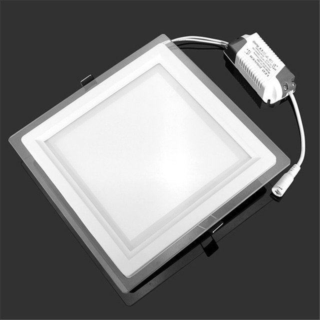 8 inch LED Panel Light 24W Recessed Ceiling Downlight AC85-265V Warm/Cold White Indoor Light Bathroom Lighting Lamp