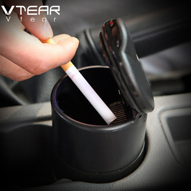 Vtear Car ashtray automobile ashtrays made with High flame retardant PBT material interior styling decoration products