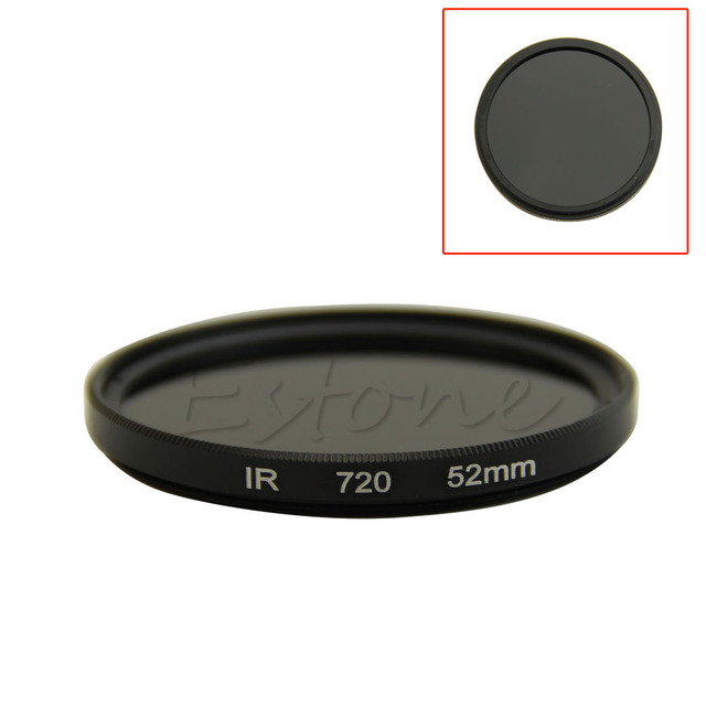 52mm Infrared Infra-red IR Pass X-Ray Lens Filter 720nm 720 Optical Glass Drop Shipping Support