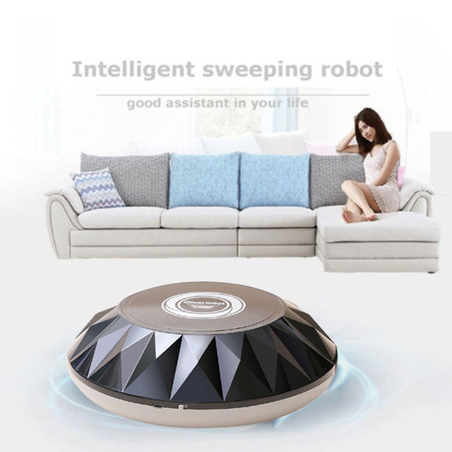 2019 Drop Shpping Diamond Grain Smart Robot Vacuum Cleaner Multi-Function Movable USB Charging Smart Sweeping Machine
