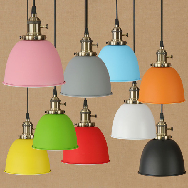 Modern Colorful Pendant Lights Lamparas Aluminum Lampshade Luminaire Dining Room Metal Pendant Lamp For Home Lighting Fixtures
