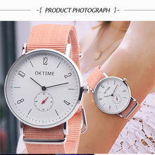 Women Watches Men Unisex Nylon Strap Ladies Watch Male Fashion Minimalist Men Quartz Watches Cloth Band Clock Relogio Feminino