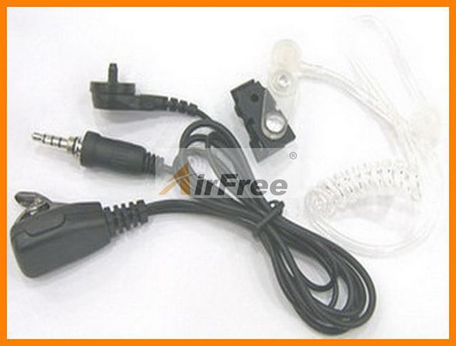2 wire Air Acoustic PTT Earpiece for Yaesu VX-6R VX-7R VX-177 VX-170 VX-120 VX-127 W/mic Air Tube for Earphone, Ear Mic