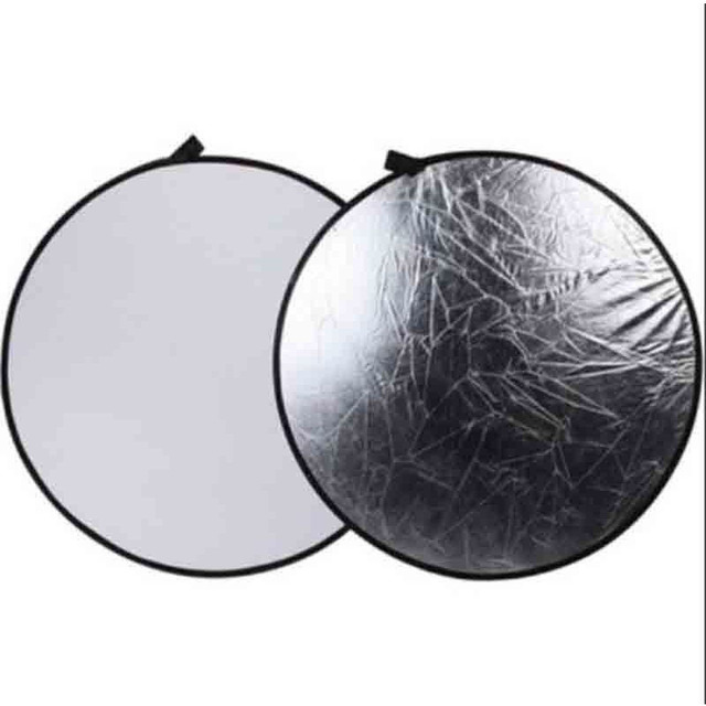 """SUPON Photography 32"""" 2 in 1 Light Mulit Silver/White Collapsible disc Reflector 80cm with Bag"""