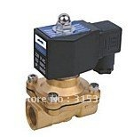 """Free Shipping 5PCS DIN Coil Brass Water Oil Pneumatic Solenoid Valve, 2 way, 3/4"""" AC110V"""