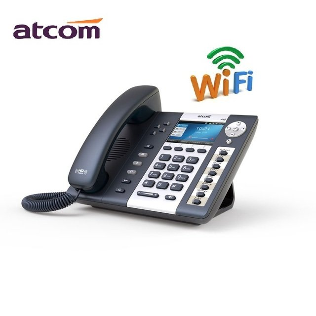ATCOM A48W  VOIP SIP PHONE WiFi  Entry-level business wireless color screen IP telephone Operator's Desktop phone  4 sip account