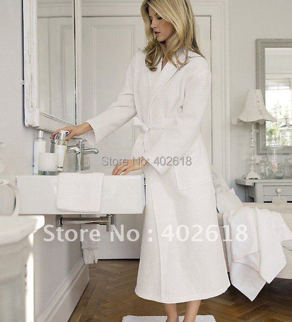 (1PCS/Lot) Waffle robes, Honeycomb cotton bathrobe, Women's bathrobe, Men's bathrobe,100%Cotton, Unisex, Size M,L,XL
