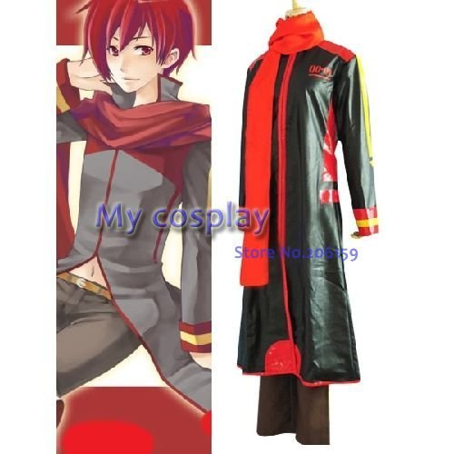 Anime Vocaloid Akaito Men's Cosplay Costume For Halloween Men Leather Coat Freeshipping