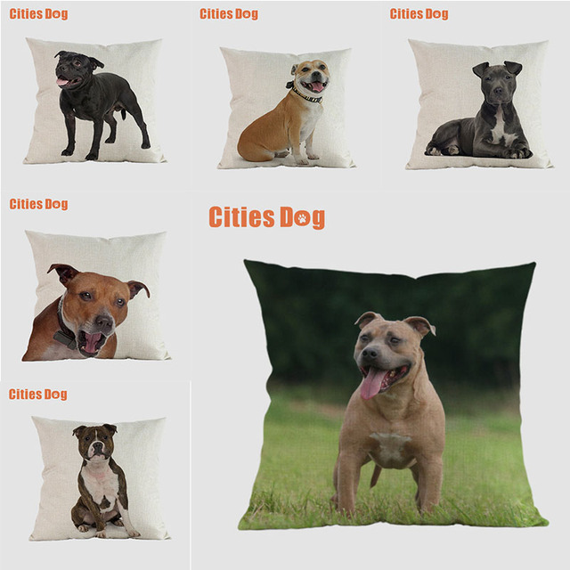 dog pillow covers decorative cushion covers for sofa Pillows Staffordshire Bull Terrier Dogs pillowcase cushions cover home deco