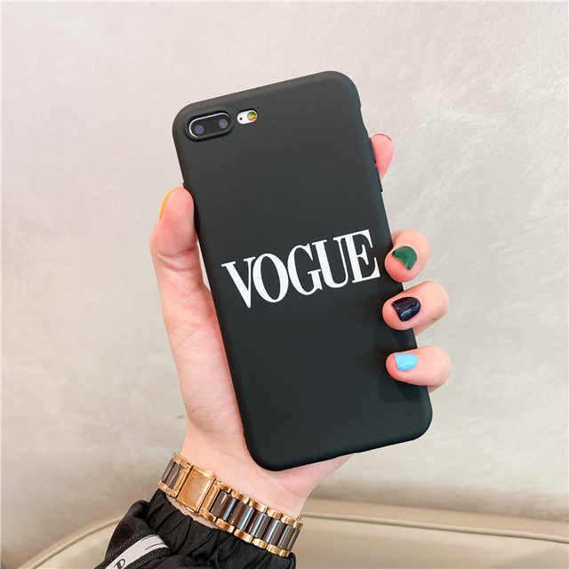Fashion Letters Phone Case For iphone 11 Pro max X XS Max XR Case For iphone 7 6 6S 8 plus Back Cover Trend Retro Soft Cases