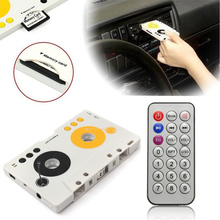 Portable Vintage Car Cassette SD MMC MP3 Tape Player Adapter Kit With Remote Control Stereo Audio Cassette Player CY942-D