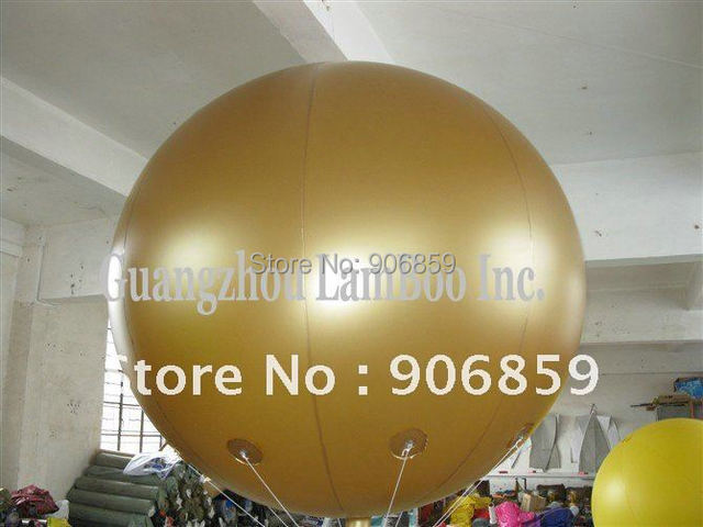 FREE SHIPPING HOT 2 meters Golden Inflatable Helium Ballon for your  advertisement,Events, Exhibition,Promotion/Nice Color