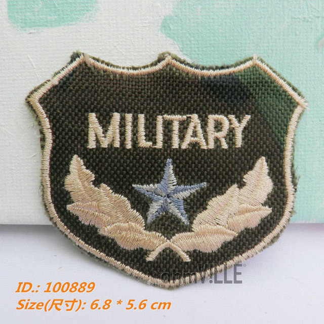 """100889 Military Badge Iron-on Patches """"easy To Apply, Just Iron-on"""" Guaranteed 100% Quality Embroidered + Free Shipping"""