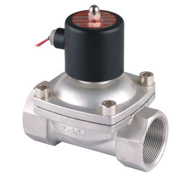 "Free Shipping High Quality 2"" Stainless Steel Normally Closed 2 Way VITON Solenoid Valve 50mm Oil Acid DC24V 2PCS/LOT"