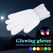 LED Light Gloves Flashing Finger 1 Pair Party Festival DJ Disco Fun Home Creative Fashion Glow Holiday Super Bright