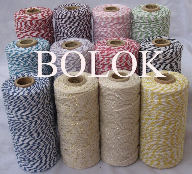 7pcs/lot bakers twine,32 kinds color choose Cotton Baker twine cotton cords, cotton twine (110yards/spool) for gift  packing