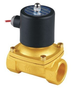 Free Shipping High Quality 2PCS In Lot 1-1/4'' Size 2W Water Solenoid Valves Brass 110VAC