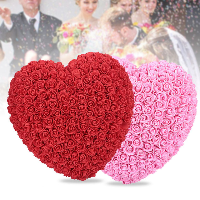 Valentine's Day Gift Artificial Rose Love Heart Shape Wedding Decoration Romantic Lovely Gift home party decor