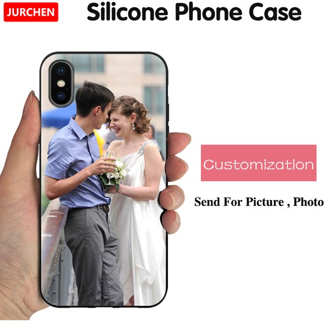 JURCHEN Custom Personal DIY Phone Case For iPhone 6 7 8 12 Mini 11 Pro Plus X XS XR Max 5 S SE 2020 Case Silicone Cover Picture
