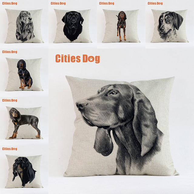 Dark Brown Hunting Coyote Dog pillow covers decorative cushion covers for sofa Pillows Animal dogs pillowcase cushions cover