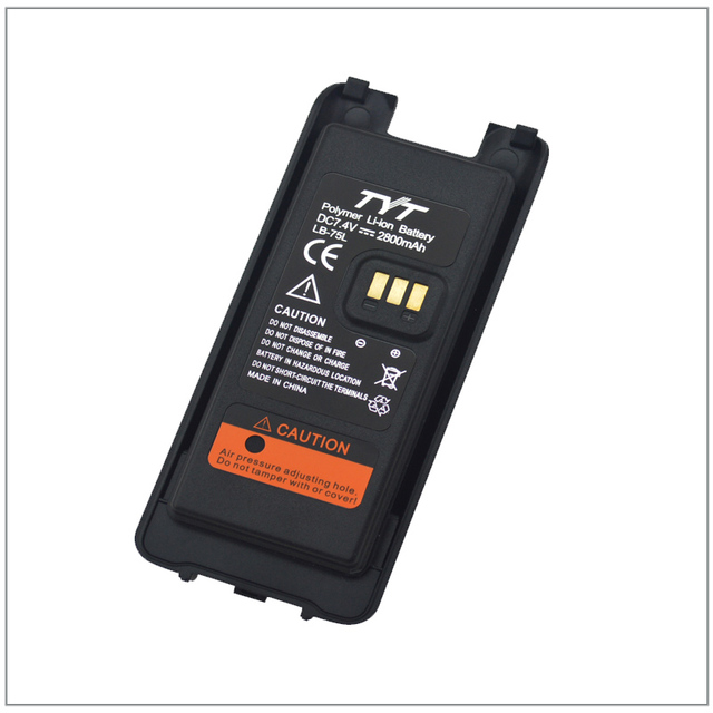 LB-75L Li-ION Battery 7.4V 2800mAh Battery Pack for Walkie Talkie TYT MD-398 Portable Two-way Radio Tytera MD398