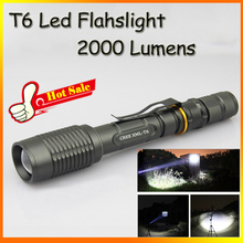 New 2015 Hot Sale New Torch Zoomable T6 LED Flashlight Cree XM-L T6 Light Tactical Flashlight Diving High Power Torch Lamp