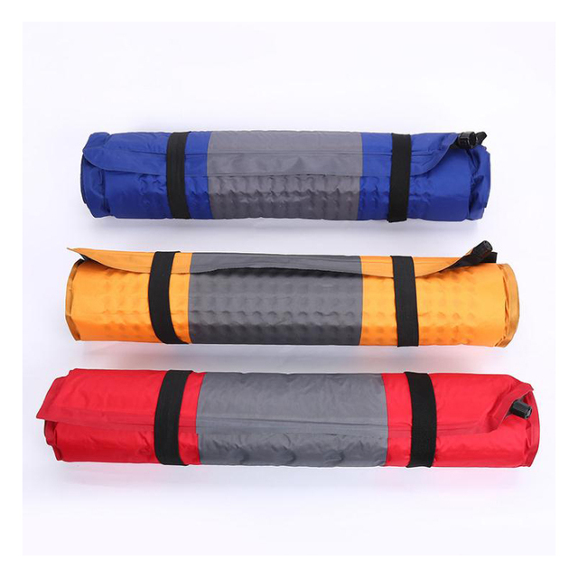 Cotton Outdoor Camping self-inflating mattress with a snap Portable Beach Mat Self-Inflating Moistureproof Picnic Mattres