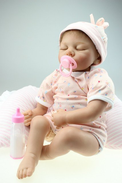 Silicone Vinyl Doll Baby toys  Newborn Simulation Babydoll Girls Present to be learing tools for mothers