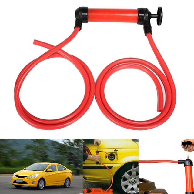 Hand Pump Air Pumps Suction Tool Dipstick Tube Portable Gasoline Car-Styling Multi-Purpose Siphon Transfer Pump Red Manual