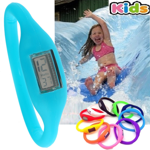 10x Silicone Ion Sport Children Watches KIDS boys girls party Gift Silicon Jelly Rubber Fashion 3ATM waterproof Wholesale LOT