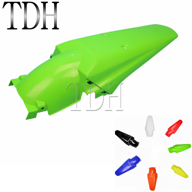 Green Motocross Dirt Racing Bike Supermoto Enduro Off Road Rear Fender Mudguard Cover Protection For Kawasaki KX KLX KMX KLR