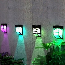 Solar LED Lights IP65 Outdoor Fence Light LED Panel Fake Lawn Garden Waterproof Home Landscape Lamps Solar-Powered Lawn Lamp /D