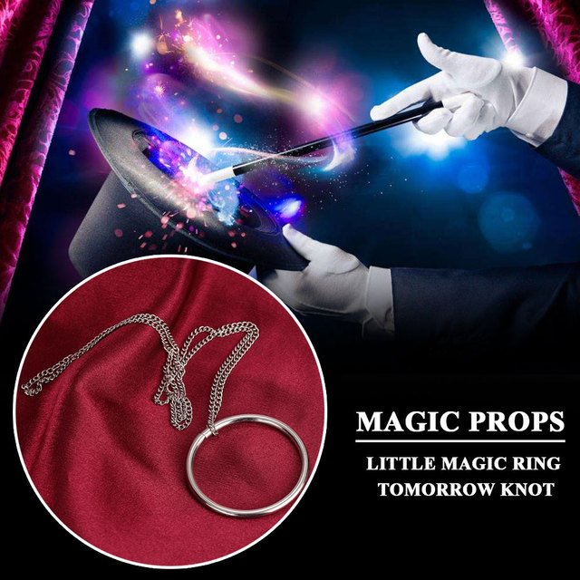 2019 Fantasy Magnetic Ring Metal Classic Toys Magnetic Necklace for Magic Tricks Drop Shipping
